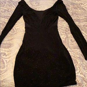Black sparkly guess dress